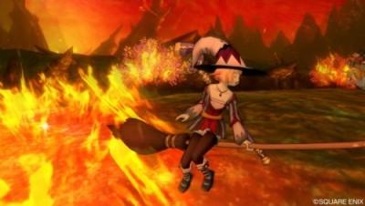 赤熱の荒野でほうきを燃やす