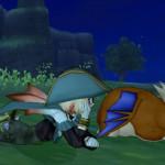 草原で居眠り