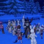 吹雪の夜に雪女