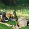 お花畑でピクニック
